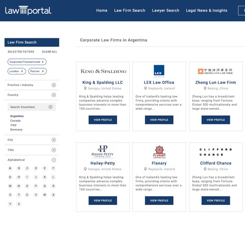Redesign Online Law Firm Directory