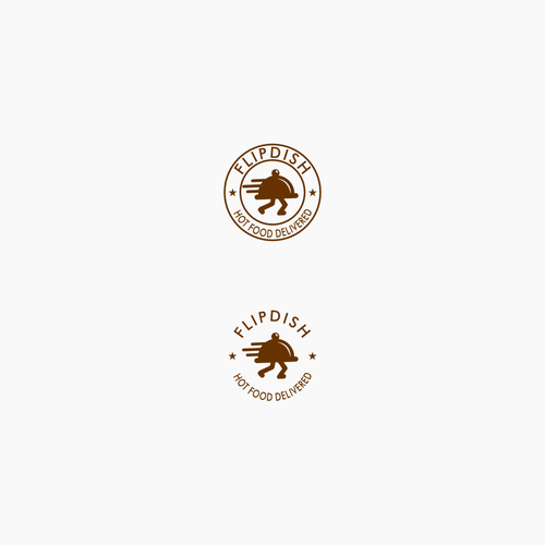 Logo - Text and Icon integration for a food app logo.