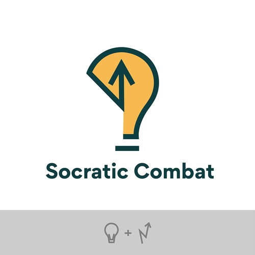 Creative logo for Socratic Combat
