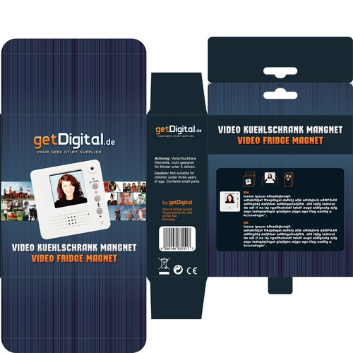 Product packaging design getDigital products