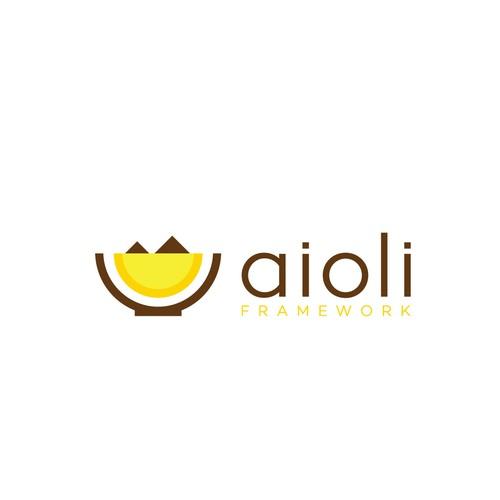 Logo finalist for Aioli Framework logo contest.