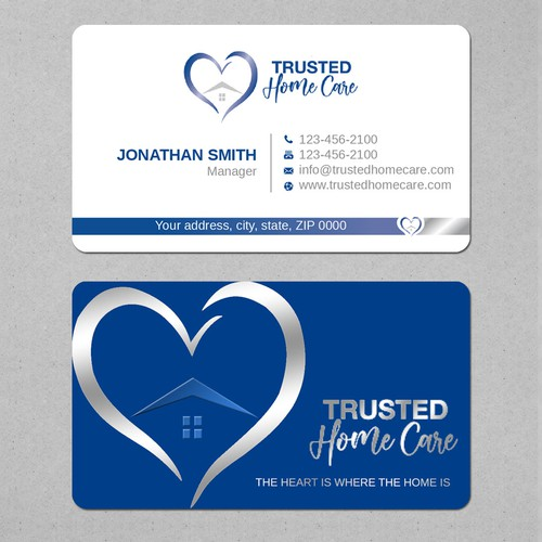 Design a business card for home care services