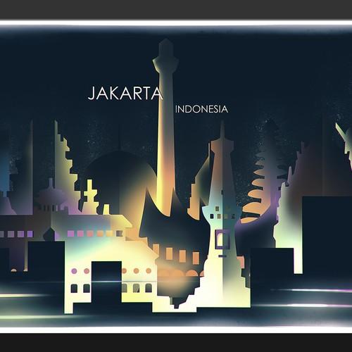 City Skyline of Jakarta