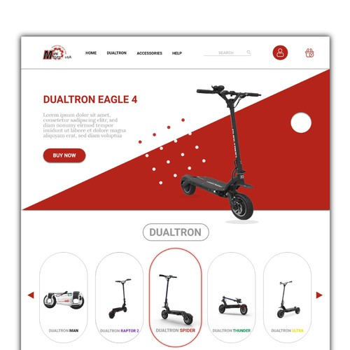 Dualtron Website Design