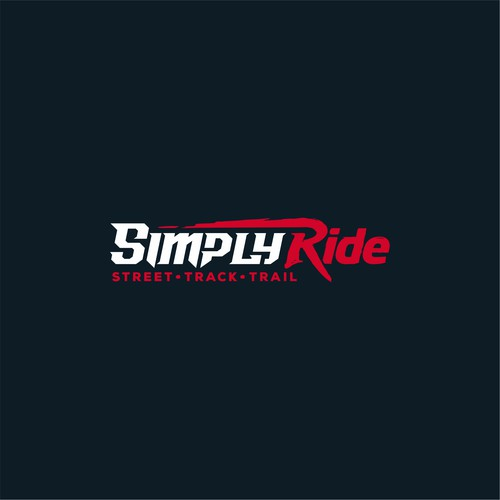 Custom font logo for motorcycle industry