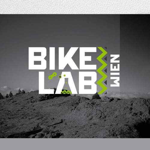 Feel free to combine BikeLab as a name, and recognisable bike parts in one Logo/Design