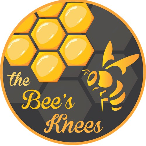 Create a HONEY LABEL. BEE'S KNEES sweet, raw, wild n' delicious from Chadds Ford, Pennsylvania