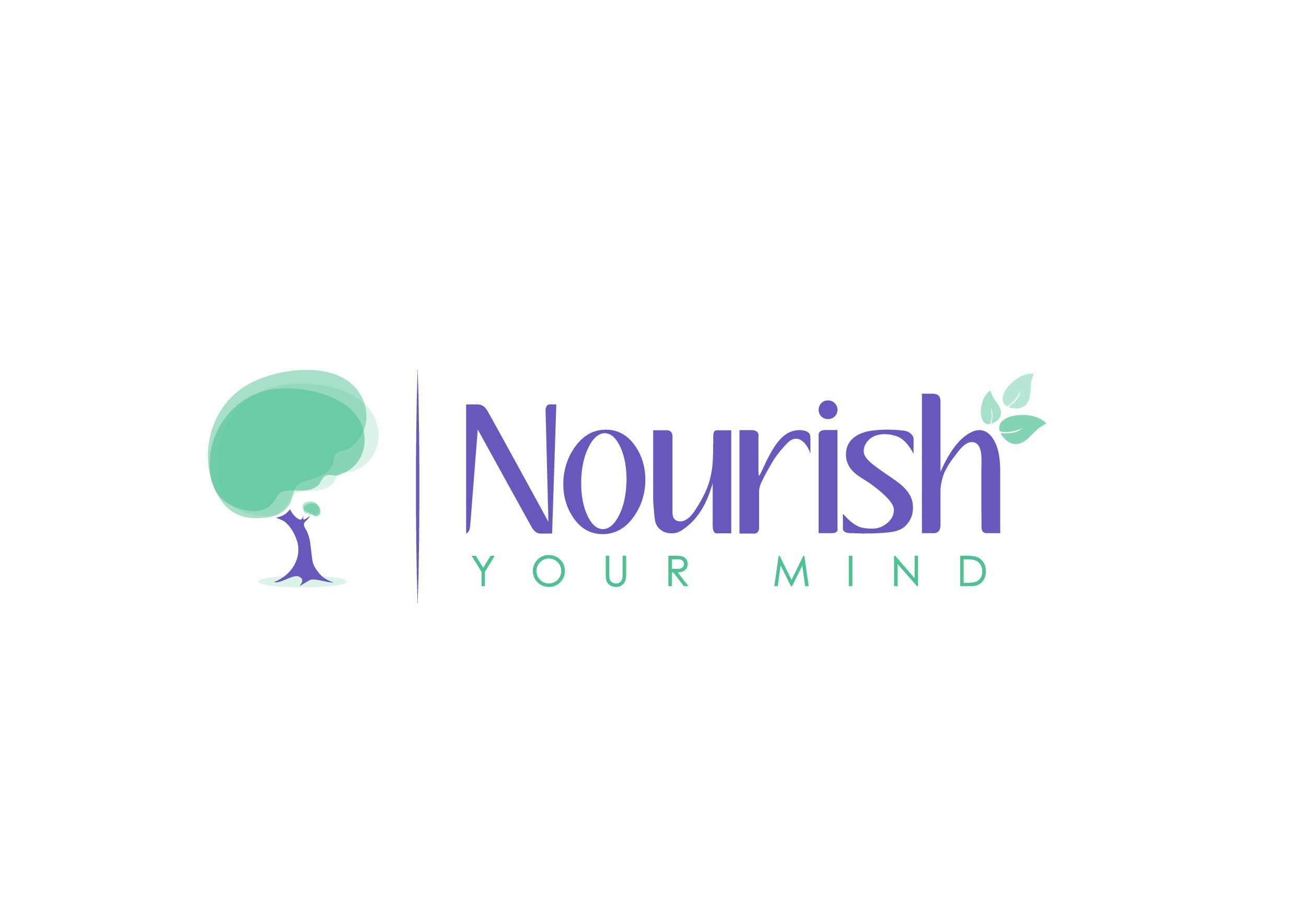 Create a bright, modern design for Nourish Your Mind.