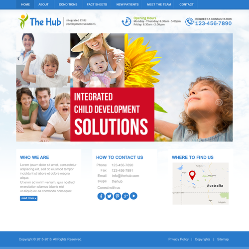 The Hub Website Home Page Design Contest
