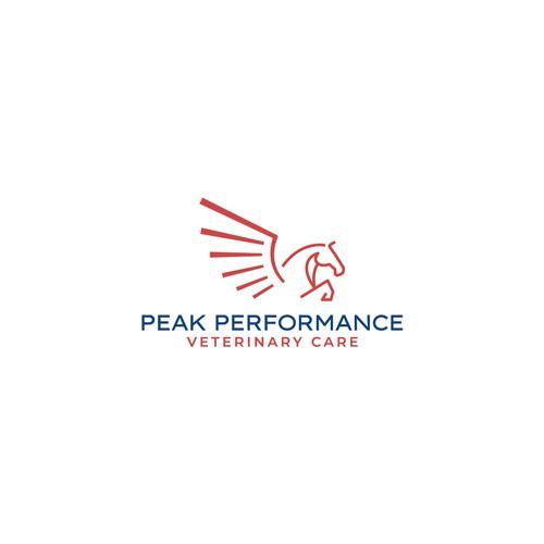 Sleek, clean, and modern Pegasus logo