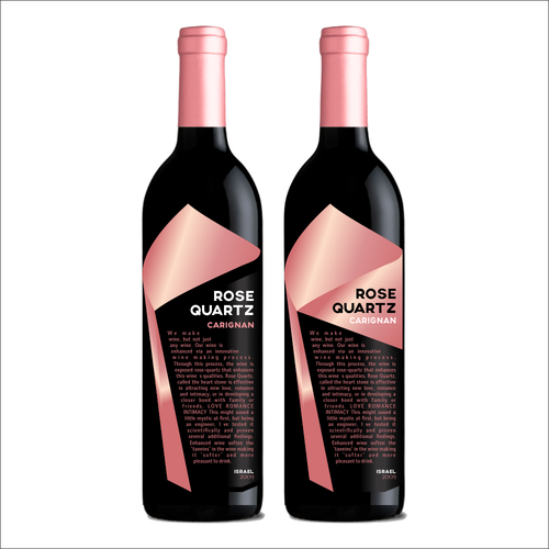 Gems Wine Rose Quartz Carignan Label
