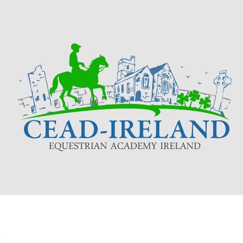 Create a engaging modern Irish Vacation provider logo