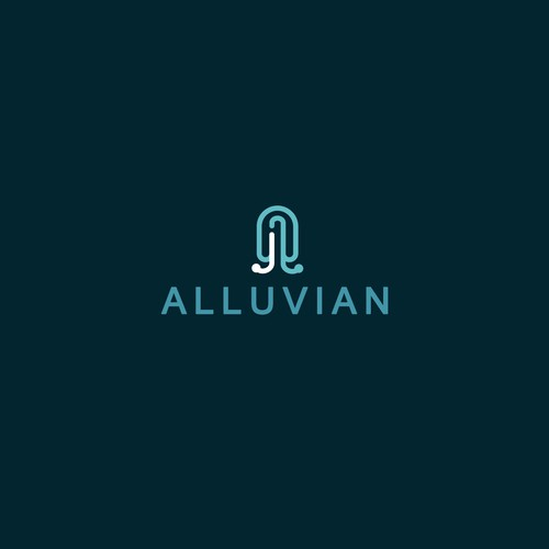 Simple logo for alluvian, private management company that owns and manages multiple operating businesses