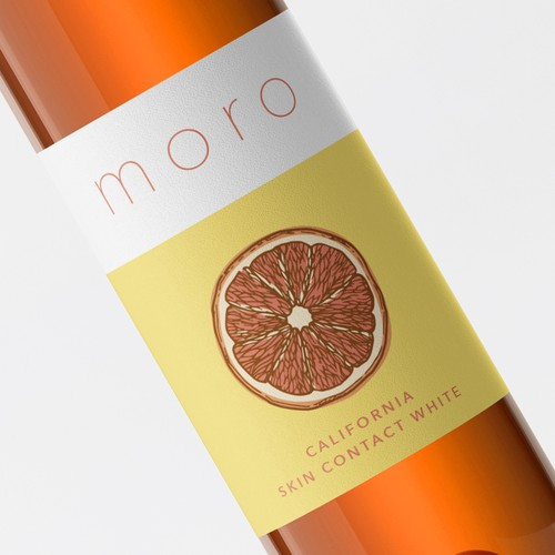 "Refinement of a ""Orange Wine"" label."