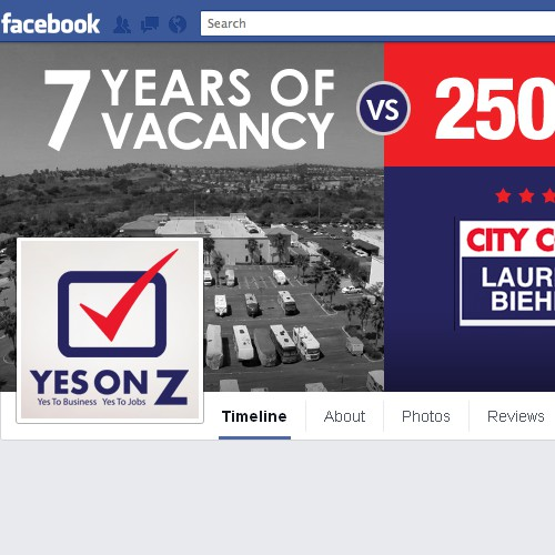 Facebook Banner for Political Campaign