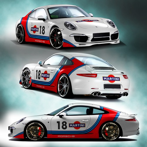 porsche 911 martini livery design