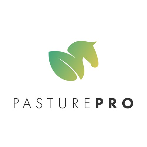 Modern and sleek logo for a pasture management brand