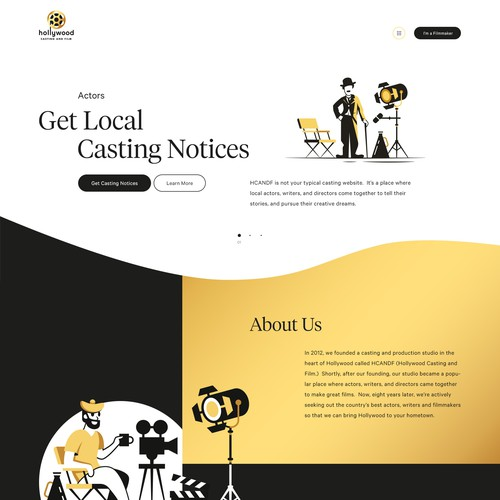 Web Design Hollywood Casting and Film