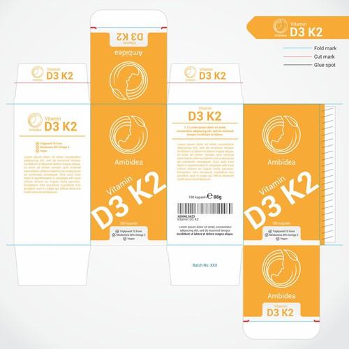 packaging for vitamin D3 K2