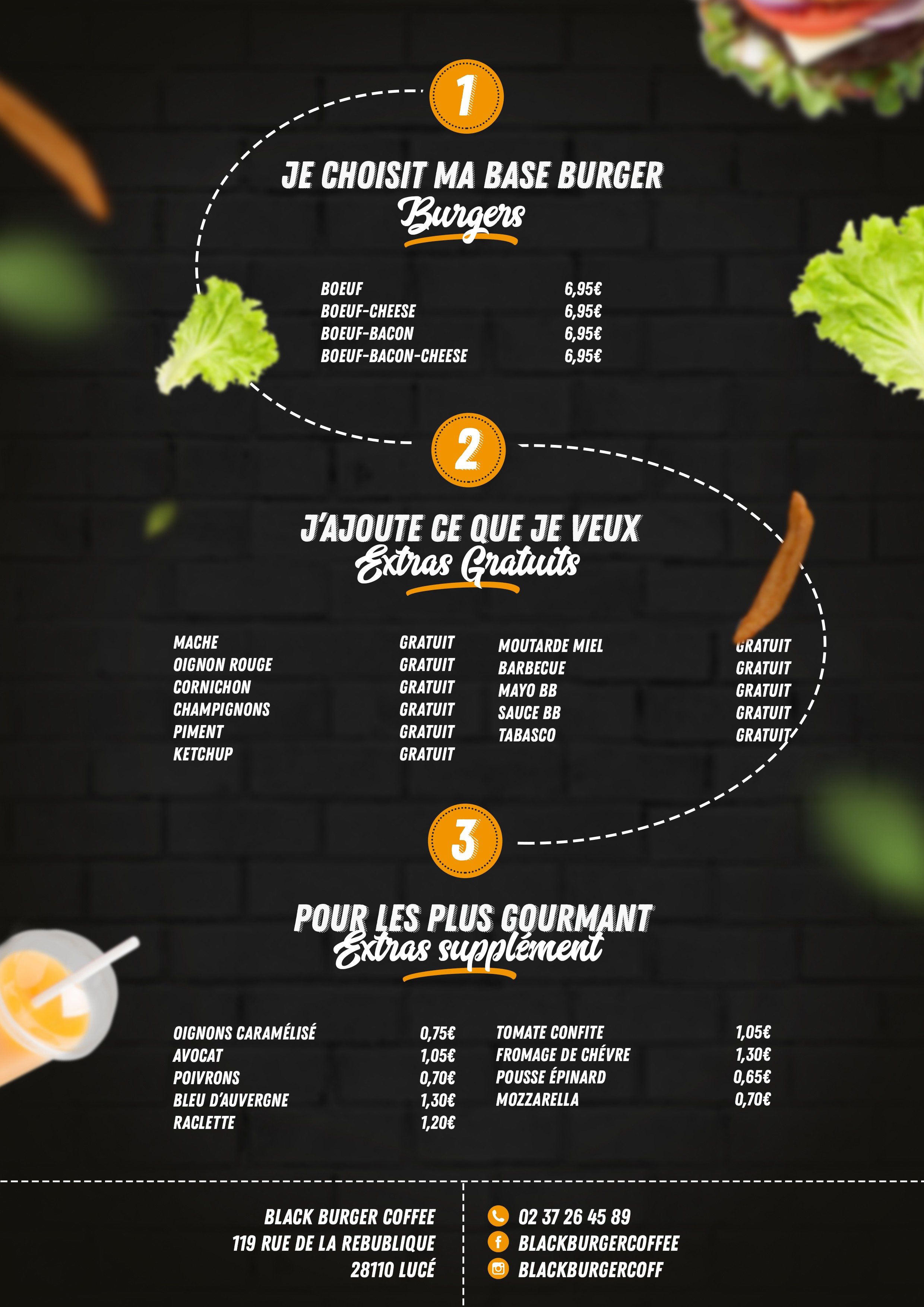 Flyer pour restaurant burger.