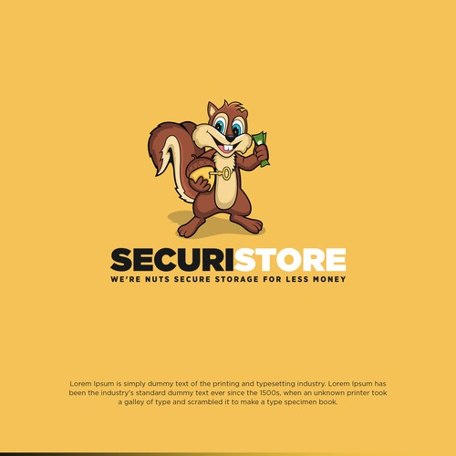 Storage Business Seeks Squirrel centric Logo Re-brand