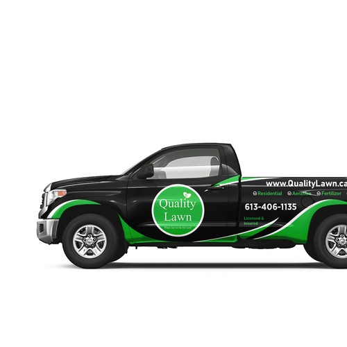 Truck Wrap for Quality Lawn