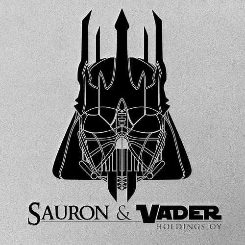 Hybrid logo between Darth Vader and Sauron