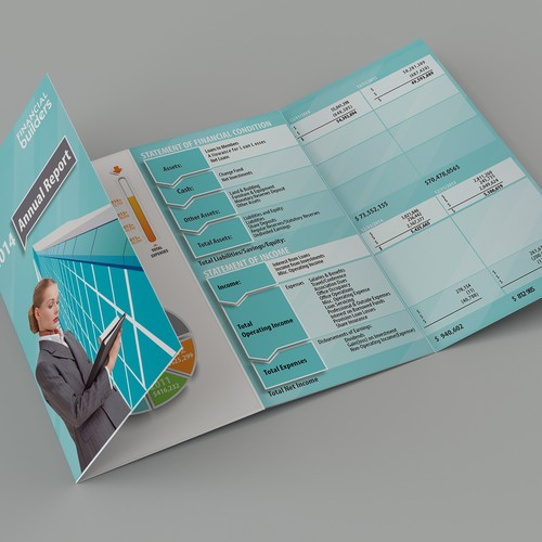 Create an infographic-like pamphlet to illustrate financial data