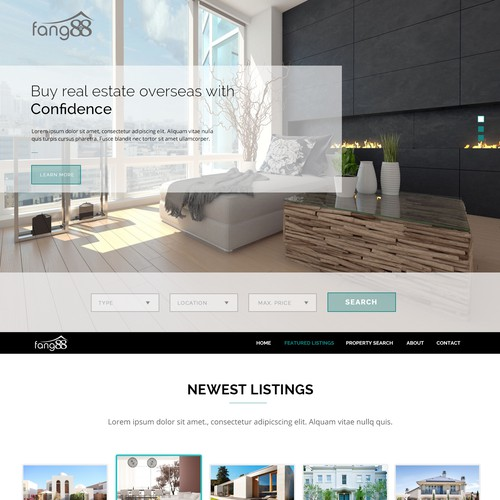 Foreign Real Estate Property Homepage
