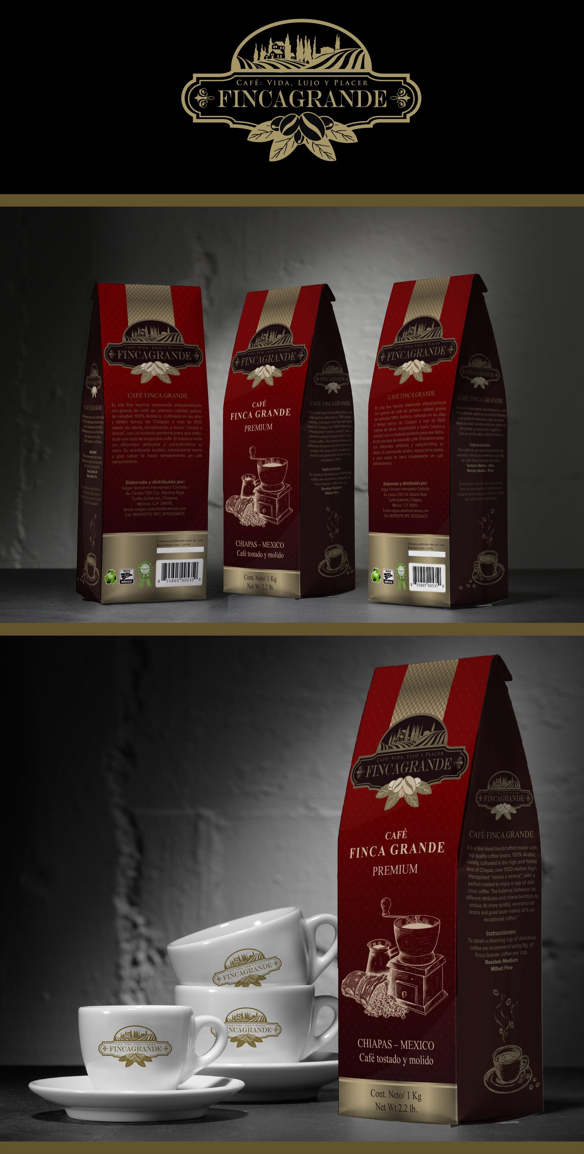 ¡Crear una ilustración cautivadora para nuestros empaques de café Finca Grande!
