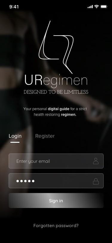 URegimen app final screens