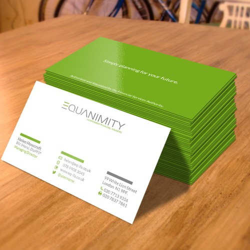 Modern, Sleek and Professional Business Cards for Financial Advisers