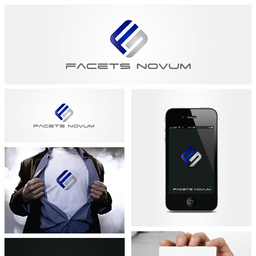 Logo creation for web/mobile app developer: Facets Novum