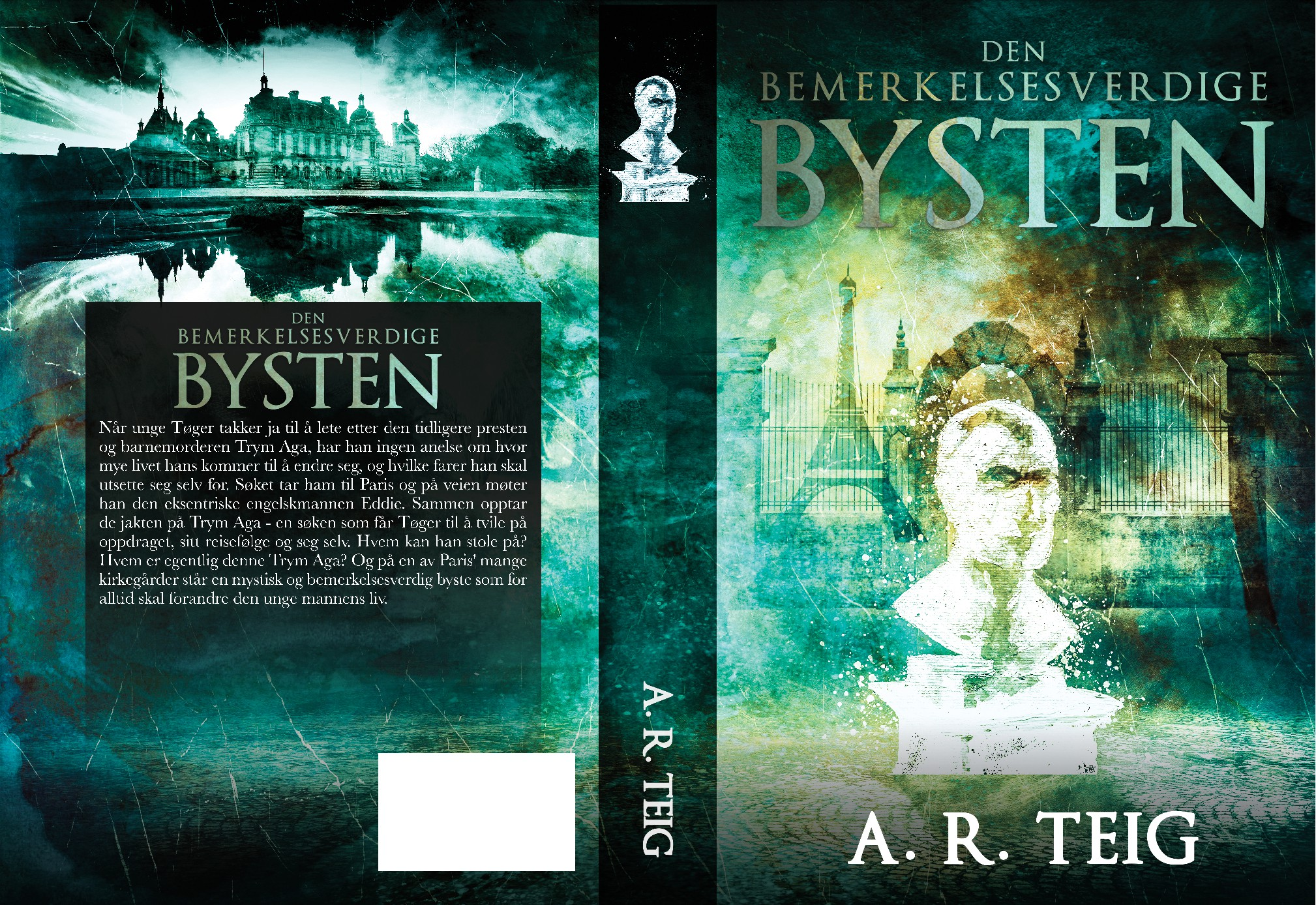 """Bookcover of fantasy/horror/crime """"the Bust"""" by A. R. Teig"""