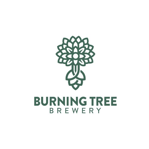 Burning tree brewery logo