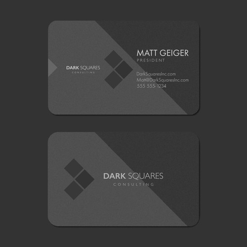 Dark Squares - postcard-