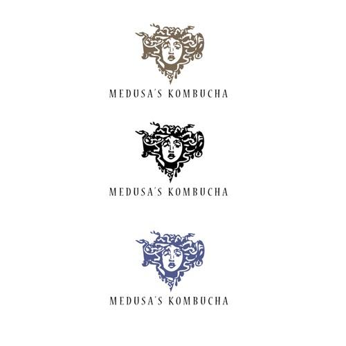 Luxury logo concept for a high-end kombucha producer.