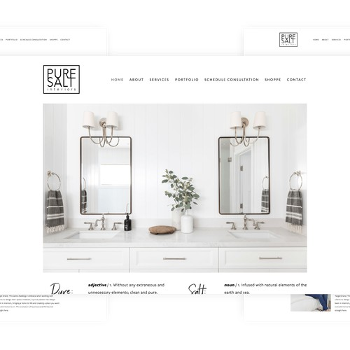 Squarespace website for interior designer