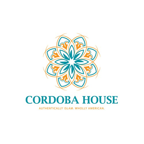elegant, contemporary Islamic-Spain Art inspired logo for Cordoba House