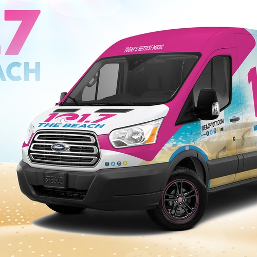 101.7 THE BEACH VAN WRAP