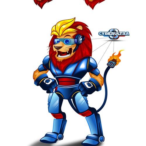 Mascot based logo for a web hosting company
