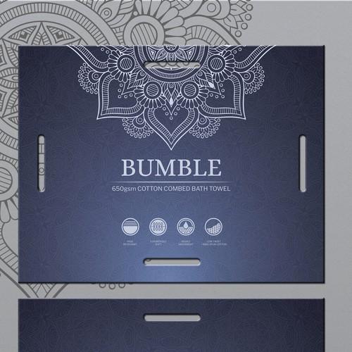 Label design for Bumble Bath Towel