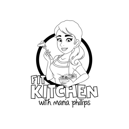 Line art logo for the healty food