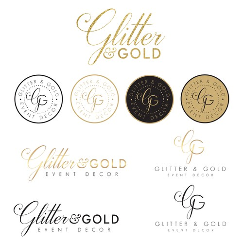 Design an eye-catching logo for Glitter & Gold
