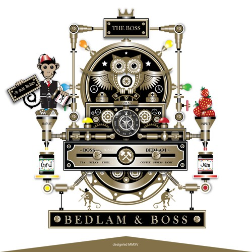 Create a striking & funky design for our company Bedlam & Boss