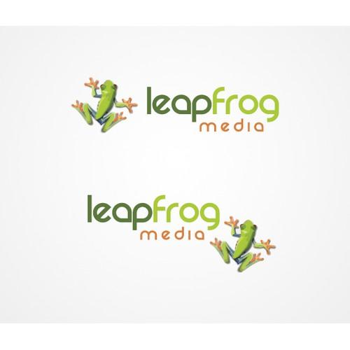 Leapfrog Media Logo Design