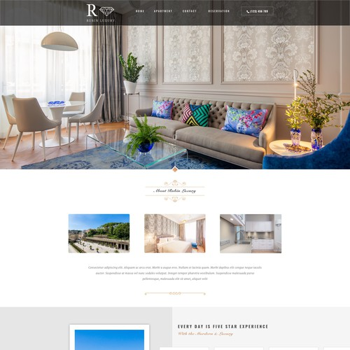Luxury aparment website