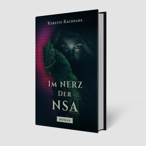 Book cover design for Im Nerz der NSA