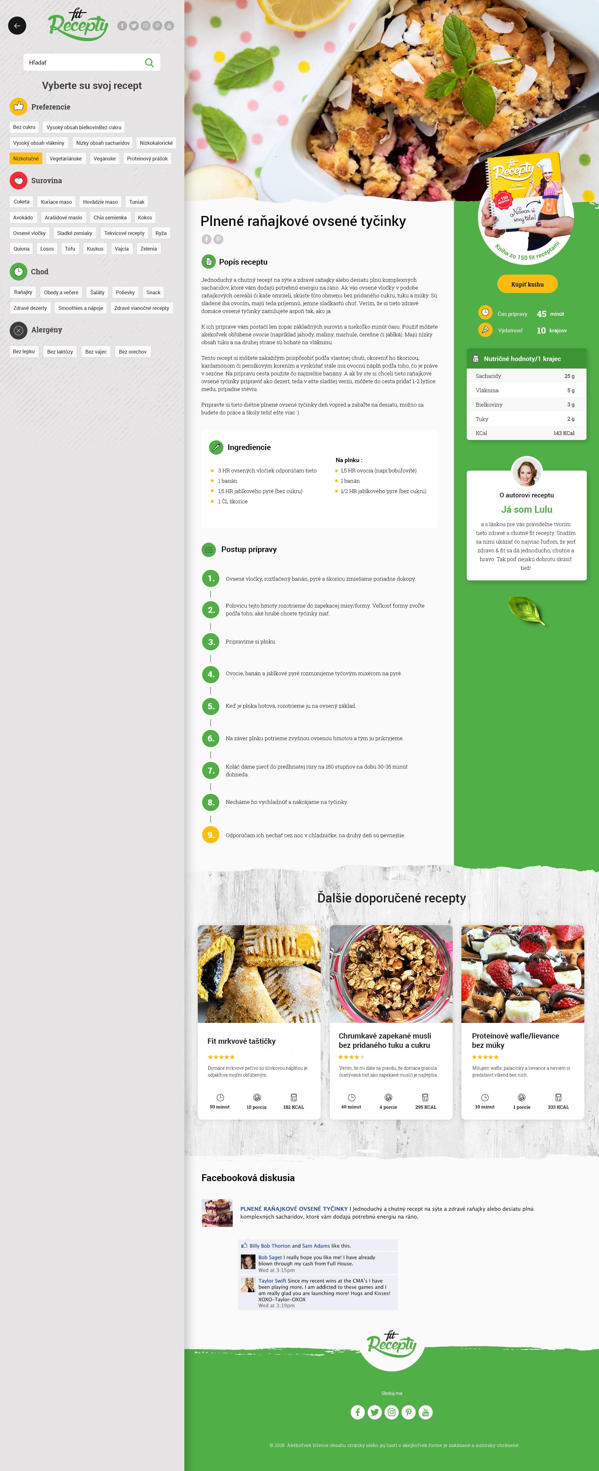Healthy recipe website needs a modern redesign