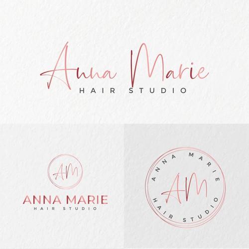 Feminine logo concept for Anna Marie.